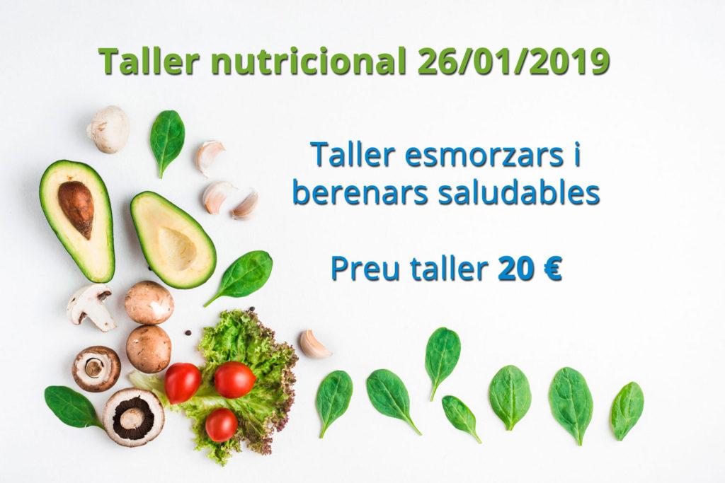 Taller nutricional 26/01/2019